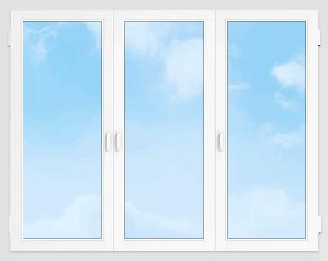 Пластиковое окно 2100*1400