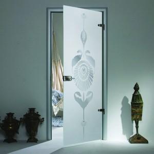 Дизайнерские двери из стекла