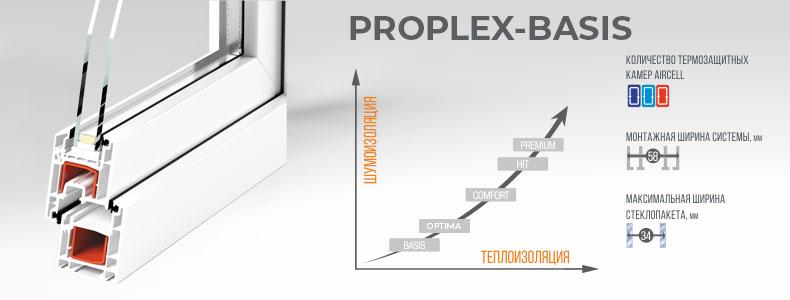Трехкамерный профиль Proplex-Basis 1
